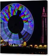 Central Pier Blackpool Canvas Print