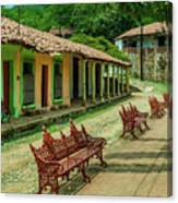Central Plaza In Copala Canvas Print