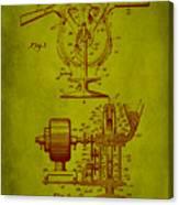 Centrifugal Gun Patent Drawing 3j Canvas Print