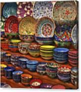Ceramic Dishes Canvas Print