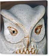 Ceramic Owl. Canvas Print