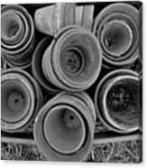 Ceramic Pots Bw Canvas Print