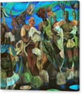 Ceremonial Dance Of The Mighty Zulus Canvas Print