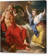 Ceres Begging For Jupiter's Thunderbolt After The Kidnapping Of Her Daughter Proserpine Canvas Print