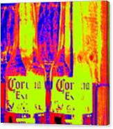 Cerveza Por Dos  Canvas Print