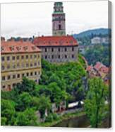 Cesky Krumlov Castle Complex In The Czech Republic Canvas Print
