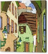 Cesky Krumlov Masna Street Canvas Print