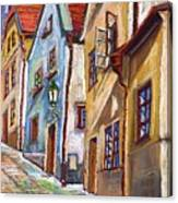 Cesky Krumlov Old Street 2 Canvas Print