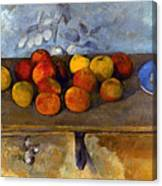 Cezanne: Apples & Biscuits Canvas Print
