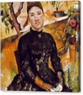 Cezanne: Mme Cezanne, 1890 Canvas Print