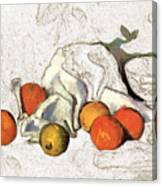 Cezanne Oranges Digital Art Canvas Print