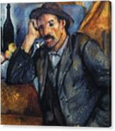 Cezanne: Pipe Smoker, 1900 Canvas Print