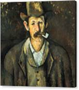 Cezanne: Pipe Smoker, C1892 Canvas Print