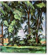 Cezanne: Trees, C1885-87 Canvas Print