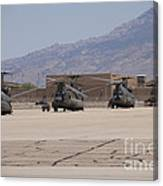 Ch-47 Chinook Helicopters On The Flight Canvas Print