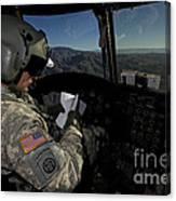Ch-47 Chinook Pilot Refers Canvas Print