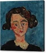 Chaim Soutine 1893 - 1943 Portrait De Jeune Fille Paulette Jourdain Canvas Print