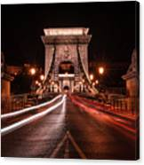 Chain Bridge At Midnight Canvas Print