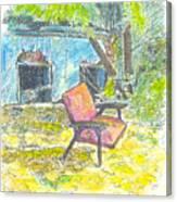 Chair, 27 September, 2015 Canvas Print