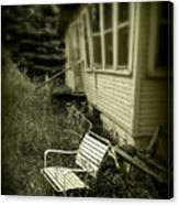 Chair In Grass Canvas Print