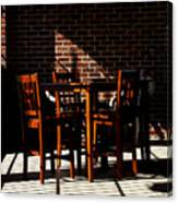 Chairs And Shadows Canvas Print