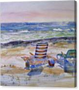 Chairs On The Beach Canvas Print