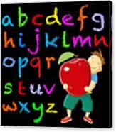 Chalk Board Alphabet B Canvas Print