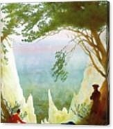 Chalk Cliffs On Rugen Canvas Print