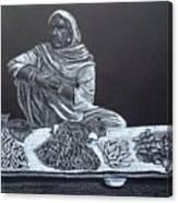 Chalk Seller Canvas Print
