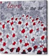 Champs De Marguerites - Love Is In The Air - Red -a23a3 Canvas Print