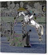 Champion Horse Jumper Canvas Print