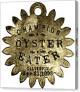 Champion Oyster Eater - To License For Professional Use Visit Granger.com Canvas Print