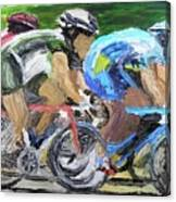 Champions Peddling To Victory Canvas Print