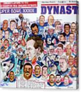Championship Patriots Newspaper Poster Canvas Print
