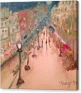 Champs De Elysee At Twilight. #paris Canvas Print