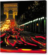 Champs Elysee In Paris Canvas Print