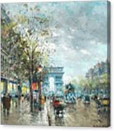 Champs Elysees Avenue, Paris Canvas Print