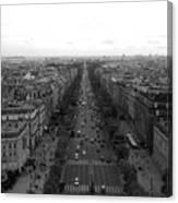 Champs Elysees In Paris Canvas Print