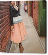 Chance Meeting In Fan Tan Alley Canvas Print