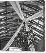 Chandelier In The Rafters Canvas Print