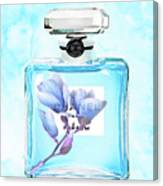 Chanel Blue Flower 3 Canvas Print