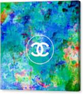 Chanel Blue White Red Black 10 Canvas Print