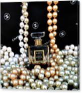 Chanel Coco With Pearls Canvas Print