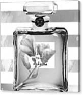 Chanel Flower Grey Canvas Print