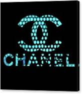 Chanel Light Blue Points Canvas Print
