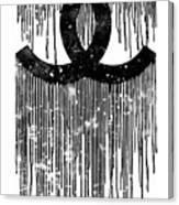 Chanel Logo Black White 1 Canvas Print