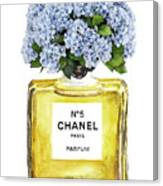 Chanel N.5 Yellow Bottle Canvas Print