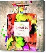 Chanel No. 5 Colored  Canvas Print