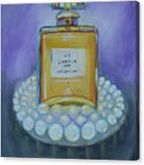 Chanel No 5 With Pearls Painting Canvas Print