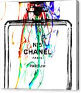 Chanel No. 5 White Canvas Print